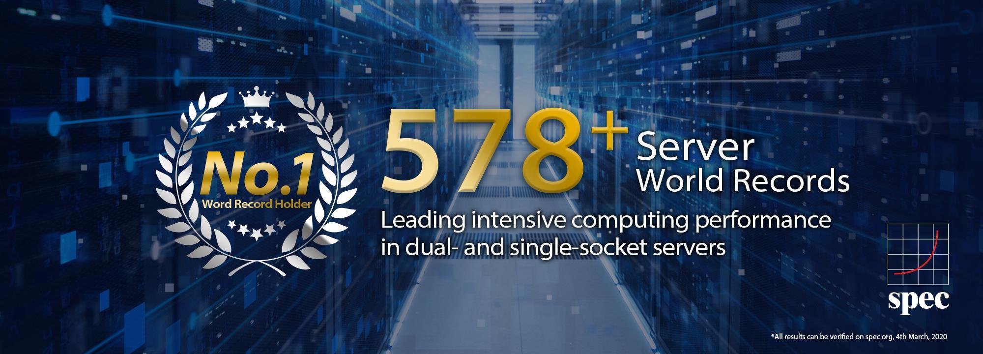 Az ASUS egy- és kétfoglalatos szervereié a legtöbb világrekord a SPEC.org teljesítményrangsorában